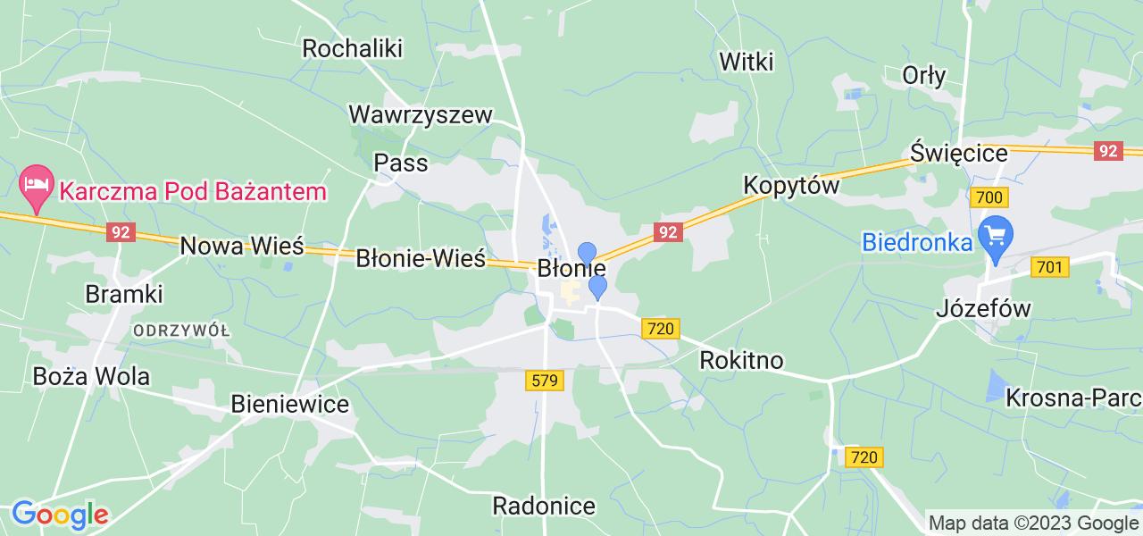 Dostępne w Błoniach lokalizacje punktów nadania, z których możesz skorzystać, chcąc wysłać turbinę do regeneracji w największym serwisie w Polsce