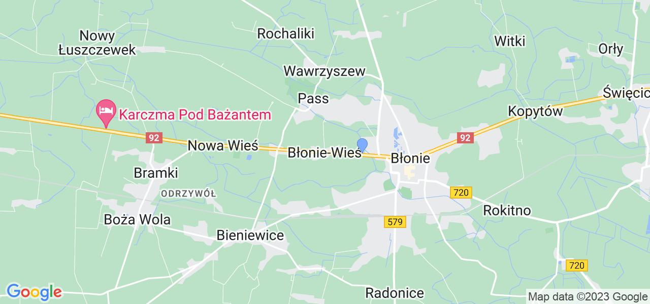Dostępne w Błoniu-Wsi lokalizacje punktów nadania, z których możesz skorzystać, chcąc wysłać turbinę do regeneracji w największym serwisie w Polsce