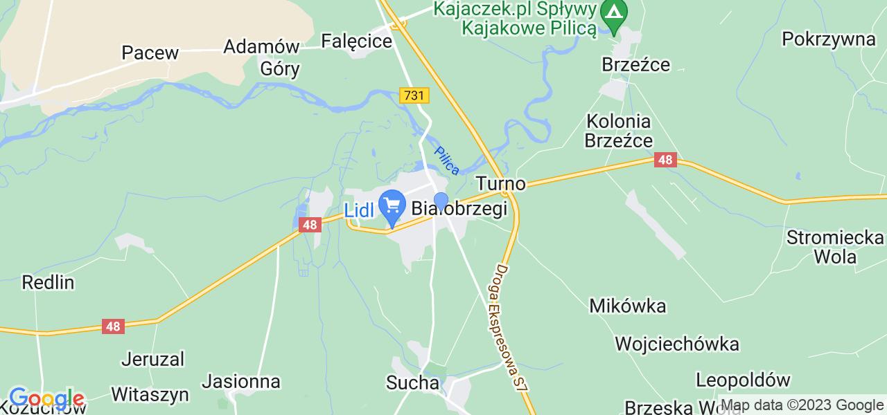 Dostępne w Białobrzegach lokalizacje punktów nadania, z których możesz skorzystać, chcąc wysłać turbinę do regeneracji w największym serwisie w Polsce