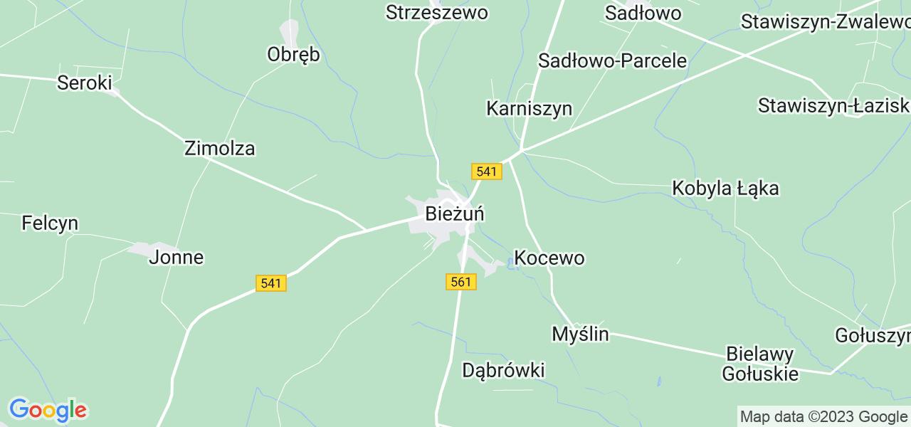 Dostępne w Bieżuniu lokalizacje punktów nadania, z których możesz skorzystać, chcąc wysłać turbinę do regeneracji w największym serwisie w Polsce