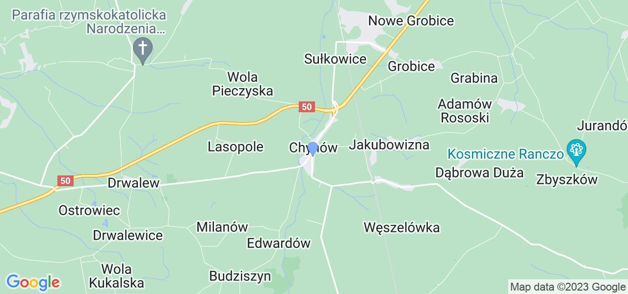 Dostępne w Chynowie lokalizacje punktów nadania, z których możesz skorzystać, chcąc wysłać turbinę do regeneracji w największym serwisie w Polsce