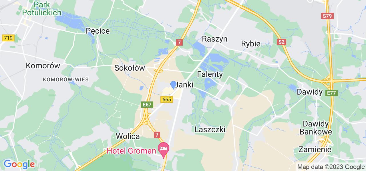 Dostępne w Jankach lokalizacje punktów nadania, z których możesz skorzystać, chcąc wysłać turbinę do regeneracji w największym serwisie w Polsce
