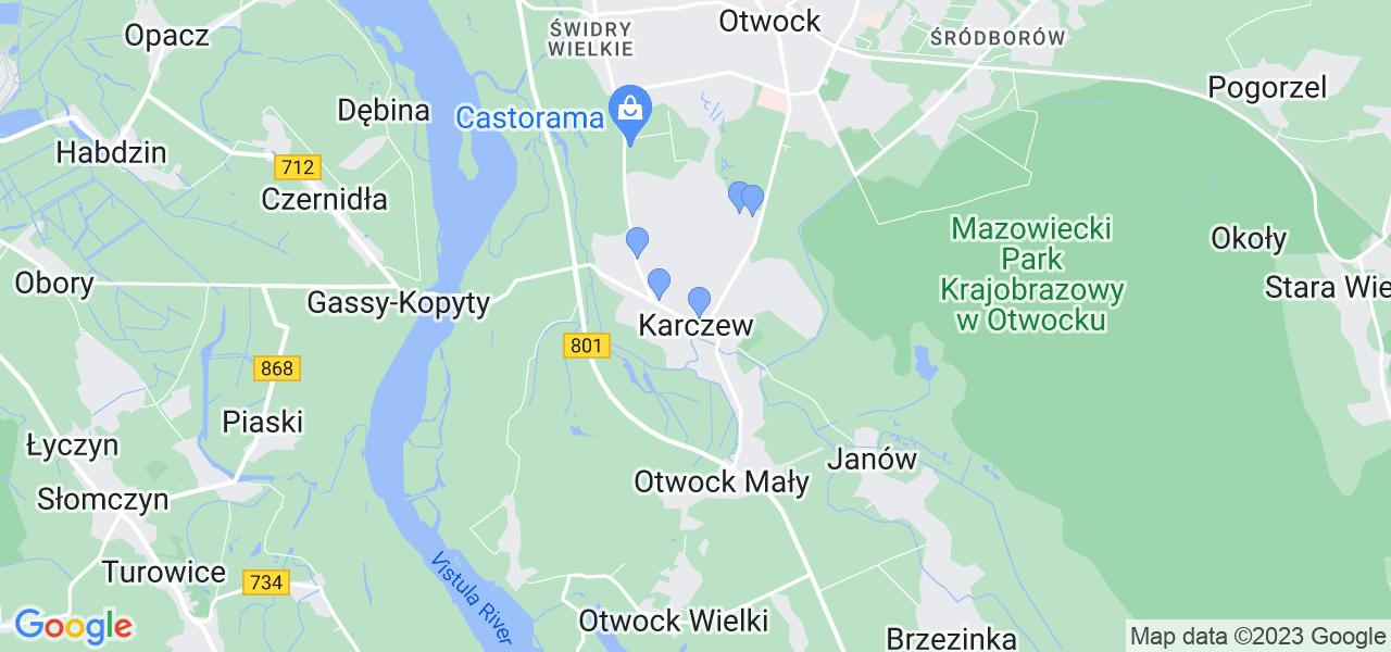 Dostępne w Karczewie lokalizacje punktów nadania, z których możesz skorzystać, chcąc wysłać turbinę do regeneracji w największym serwisie w Polsce