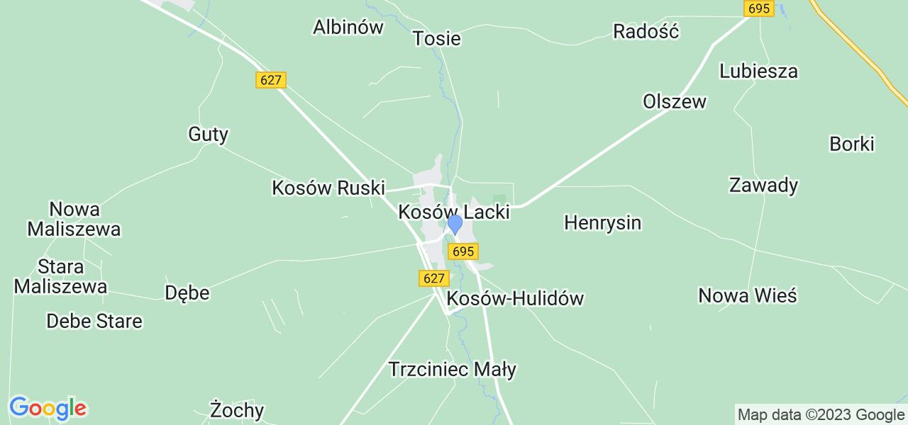 Dostępne w Kosowie Lackim lokalizacje punktów nadania, z których możesz skorzystać, chcąc wysłać turbinę do regeneracji w największym serwisie w Polsce