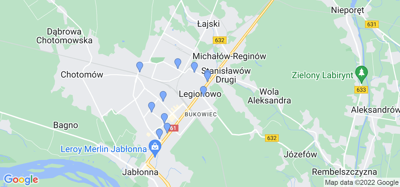 Dostępne w Legionowie lokalizacje punktów nadania, z których możesz skorzystać, chcąc wysłać turbinę do regeneracji w największym serwisie w Polsce