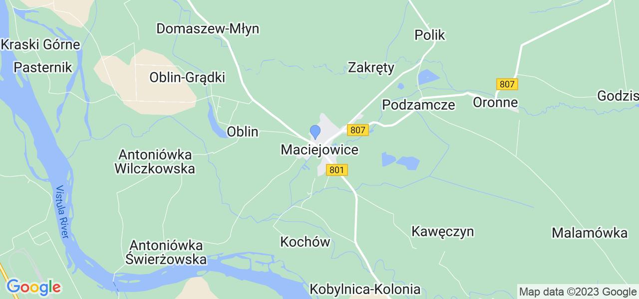 Dostępne w Maciejowicach lokalizacje punktów nadania, z których możesz skorzystać, chcąc wysłać turbinę do regeneracji w największym serwisie w Polsce
