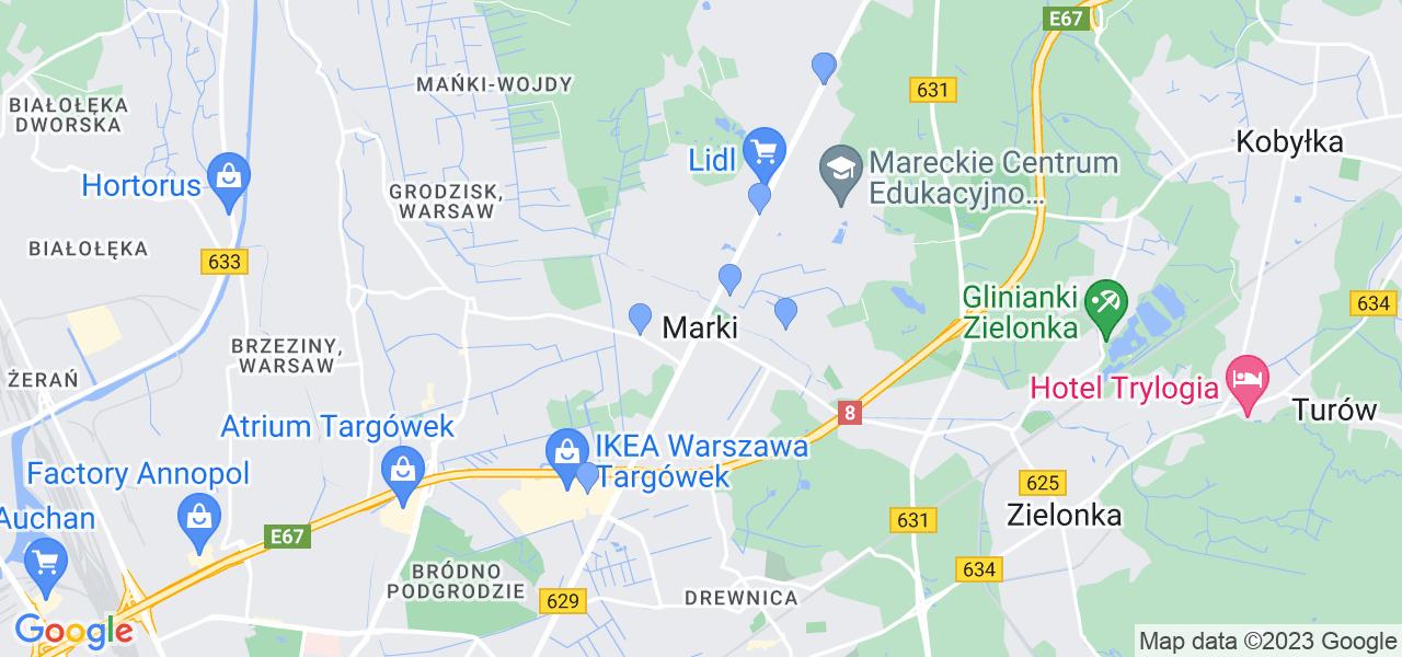 Dostępne w Markach lokalizacje punktów nadania, z których możesz skorzystać, chcąc wysłać turbinę do regeneracji w największym serwisie w Polsce