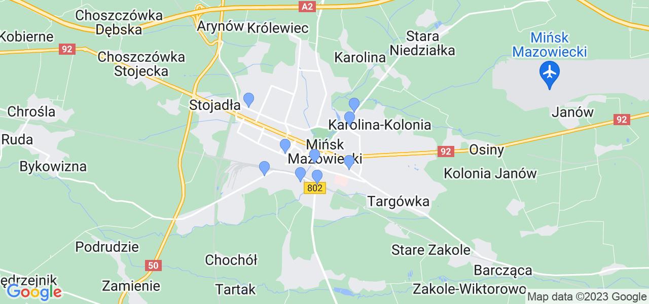 Dostępne w Mińsku Mazowieckim lokalizacje punktów nadania, z których możesz skorzystać, chcąc wysłać turbinę do regeneracji w największym serwisie w Polsce