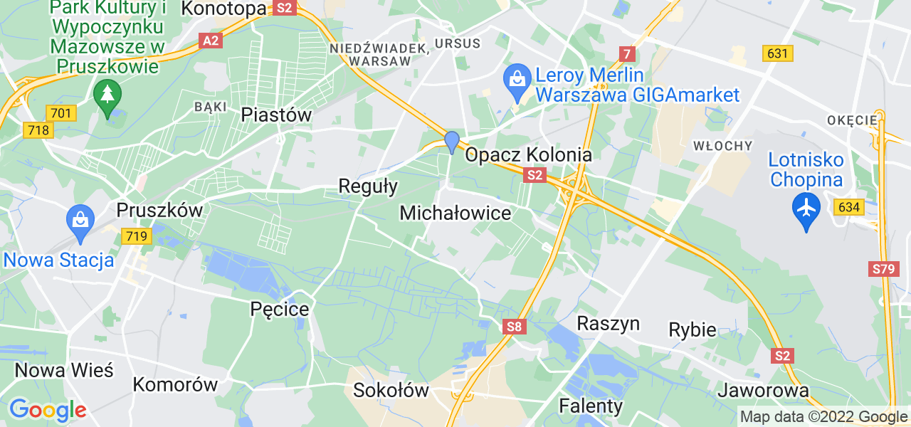 Dostępne w Michałowicach lokalizacje punktów nadania, z których możesz skorzystać, chcąc wysłać turbinę do regeneracji w największym serwisie w Polsce