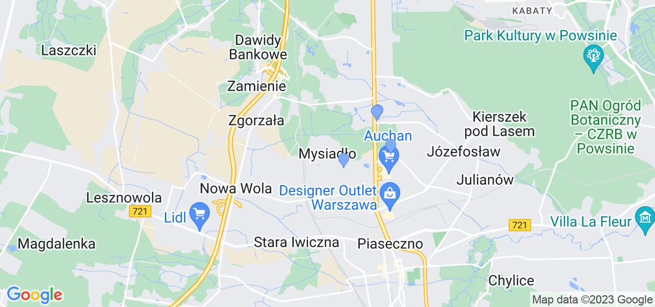 Dostępne w Mysiadle lokalizacje punktów nadania, z których możesz skorzystać, chcąc wysłać turbinę do regeneracji w największym serwisie w Polsce