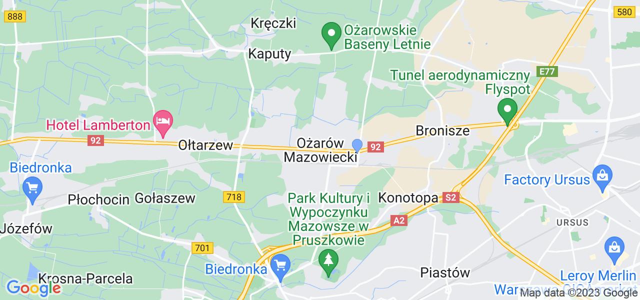 Dostępne w Ożarowie Mazowieckim lokalizacje punktów nadania, z których możesz skorzystać, chcąc wysłać turbinę do regeneracji w największym serwisie w Polsce