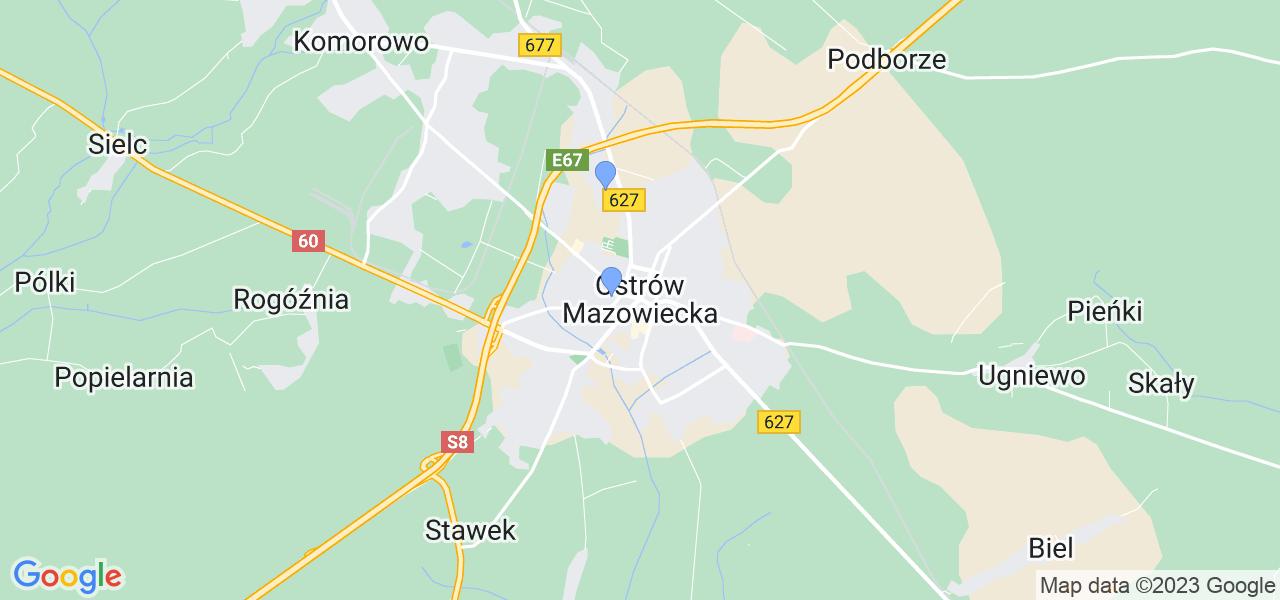 Dostępne w Ostrowi Mazowieckiej lokalizacje punktów nadania, z których możesz skorzystać, chcąc wysłać turbinę do regeneracji w największym serwisie w Polsce