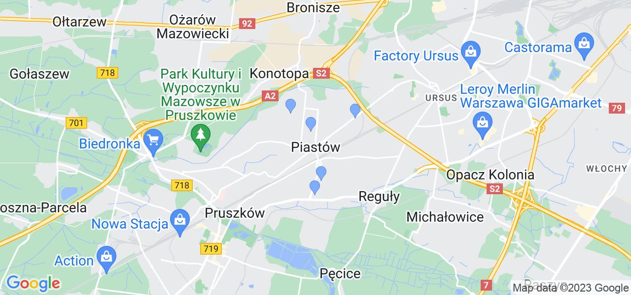 Dostępne w Piastowie lokalizacje punktów nadania, z których możesz skorzystać, chcąc wysłać turbinę do regeneracji w największym serwisie w Polsce