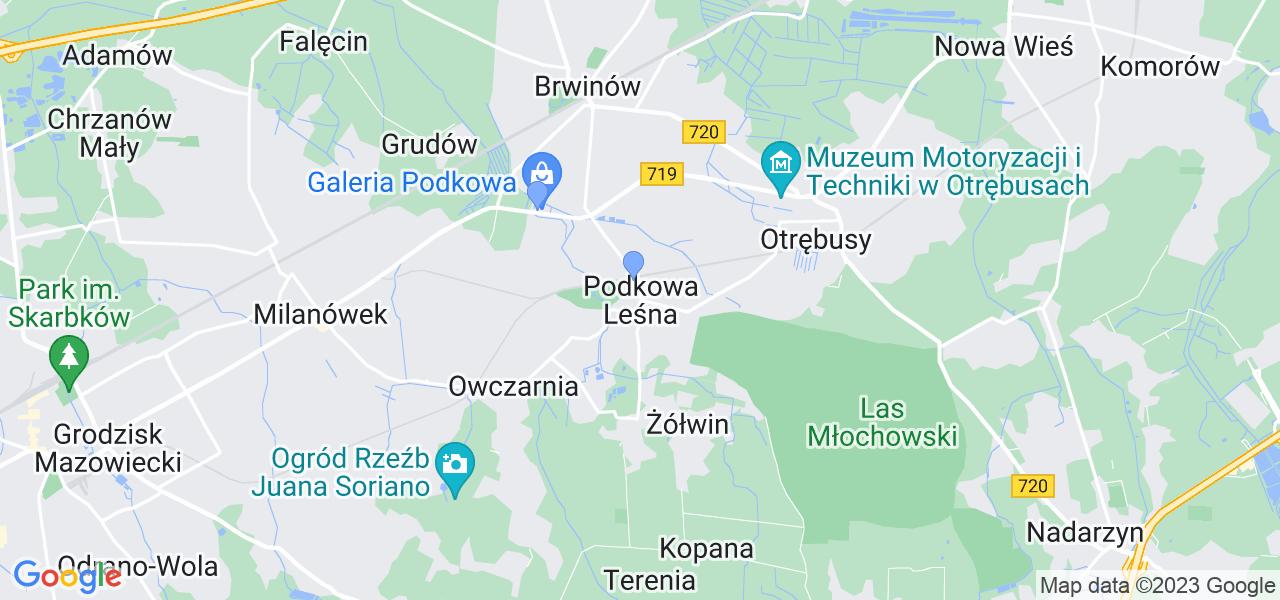 Dostępne w Podkowie Leśnej lokalizacje punktów nadania, z których możesz skorzystać, chcąc wysłać turbinę do regeneracji w największym serwisie w Polsce