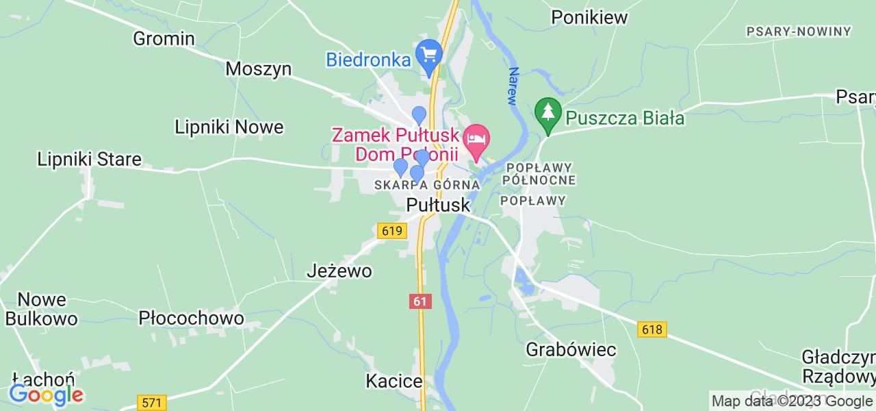 Dostępne w Pułtusku lokalizacje punktów nadania, z których możesz skorzystać, chcąc wysłać turbinę do regeneracji w największym serwisie w Polsce