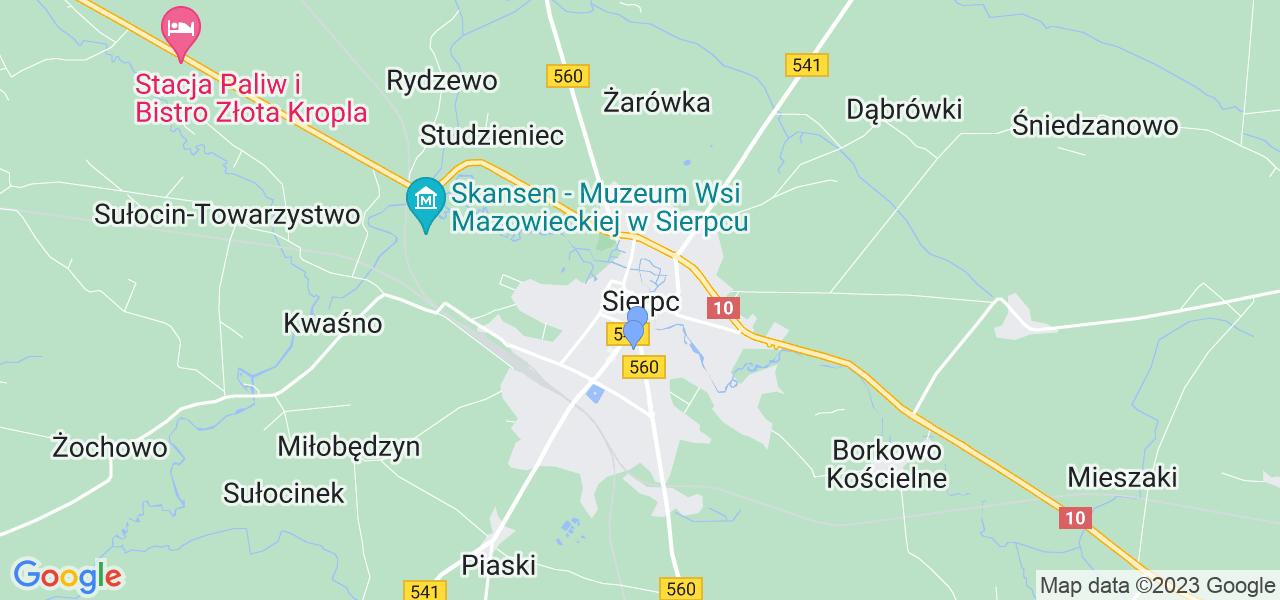 Dostępne w Sierpcu lokalizacje punktów nadania, z których możesz skorzystać, chcąc wysłać turbinę do regeneracji w największym serwisie w Polsce