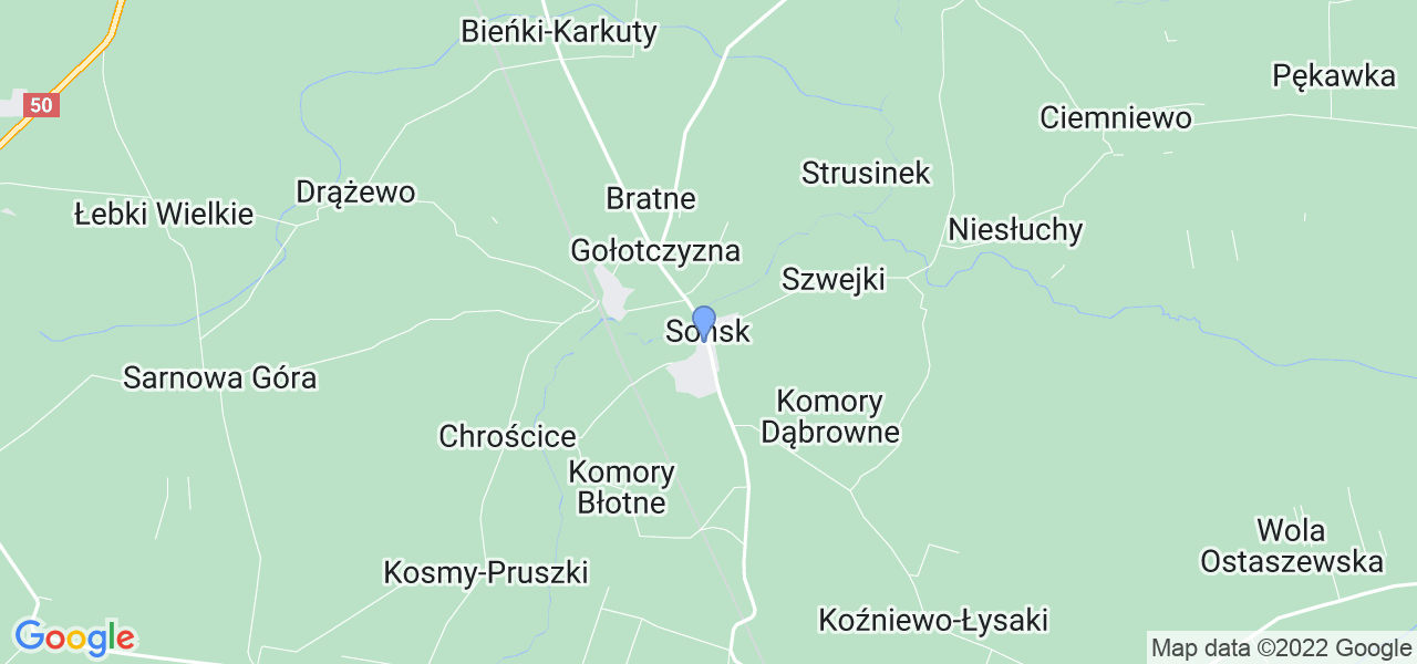 Dostępne w Sońsku lokalizacje punktów nadania, z których możesz skorzystać, chcąc wysłać turbinę do regeneracji w największym serwisie w Polsce