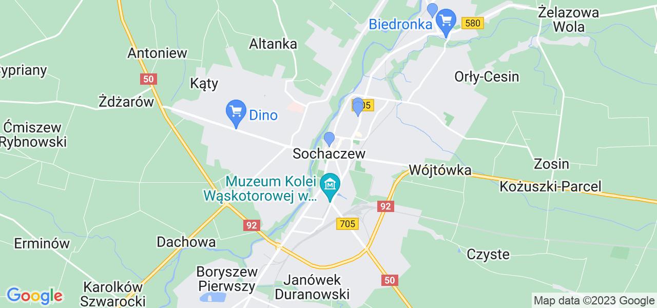 Dostępne w Sochaczewie lokalizacje punktów nadania, z których możesz skorzystać, chcąc wysłać turbinę do regeneracji w największym serwisie w Polsce