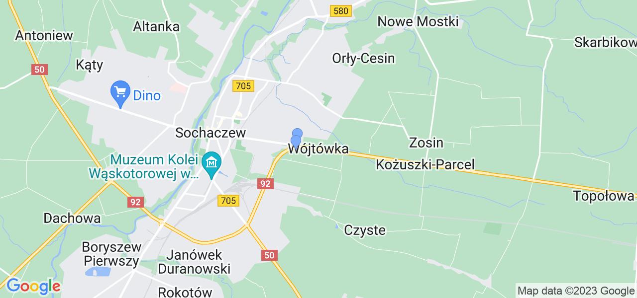 Dostępne w Wójtówce lokalizacje punktów nadania, z których możesz skorzystać, chcąc wysłać turbinę do regeneracji w największym serwisie w Polsce