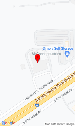 Google Map of McCann Industries 250 E. North Frontage Road, Bolingbrook, IL, 60440