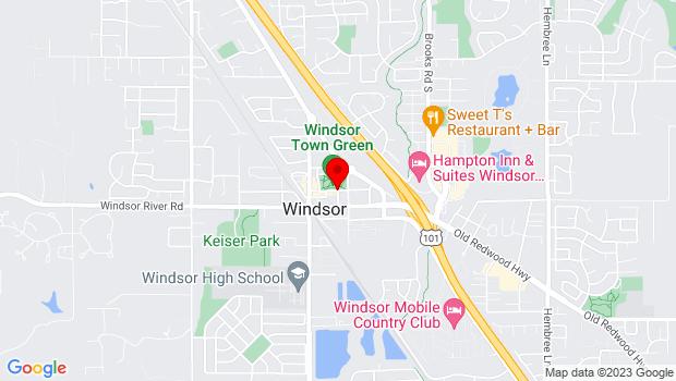 Google Map of McClellen Dr., Windsor, CA 95492