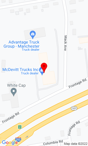 Google Map of McDevitt Trucks Inc. One Mack Avenue, Manchester, NH, 03103