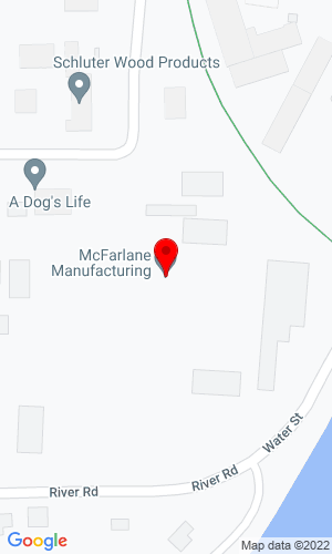 Google Map of McFarlane 1259 Water Street  PO Box 100, Sauk City, WI, 53583
