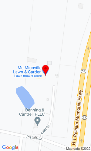 Google Map of McMinnville Lawn & Garden 129 Keel Drive, Mcminnville, TN, 37110