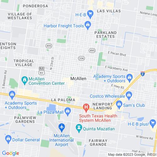 Map of Mcallen, TX