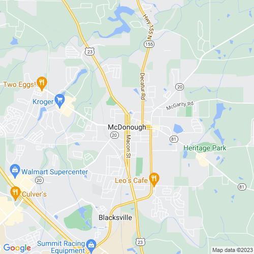 Map of Mcdonough, GA