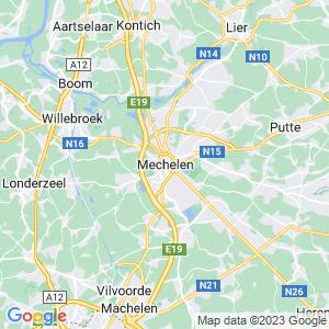 Werkgebied van onze bestrijder in Mechelen