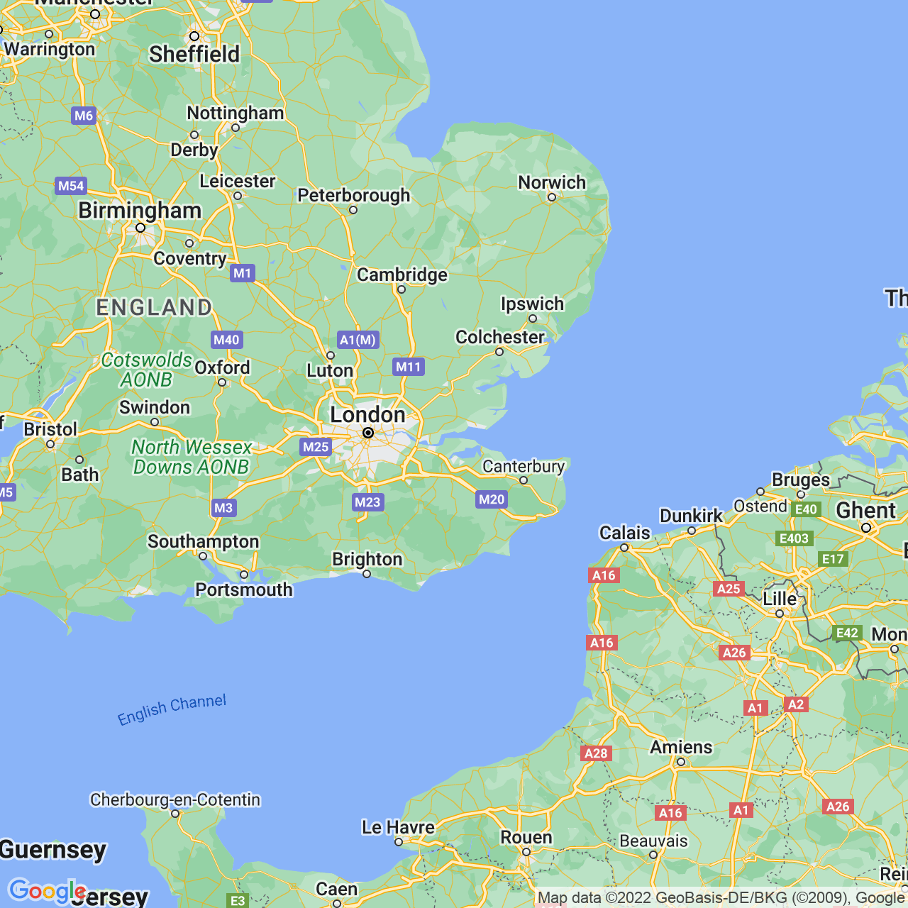 Medway, England Map