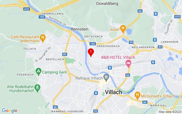 Routenplaner Meister-Erhard-Allee,+9500+Villach