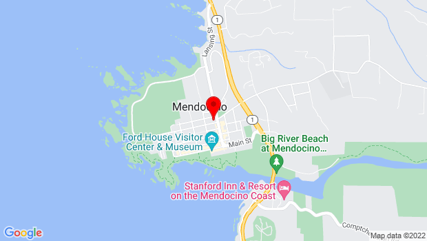Google Map of Mendocino, CA