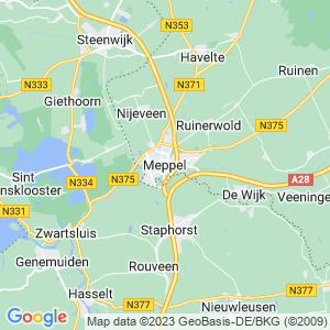 Werkgebied van onze bestrijder in Meppel