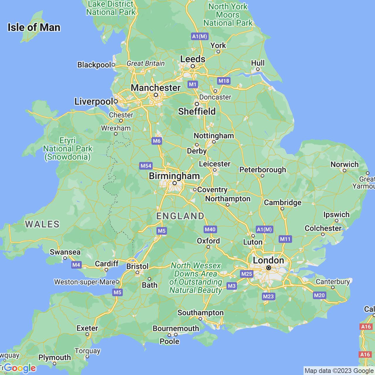 Meriden, England Map