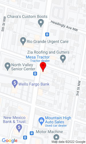 Google Map of Mesa Tractor Inc 3826 4th St NW, Albuquerque, NM, 87107