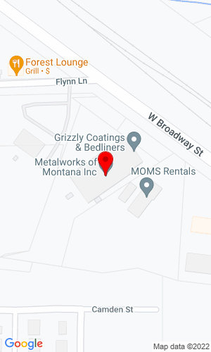 Google Map of Metalworks of Montana, Inc 3635 West Broadway Street, Missoula, MT, 59808,