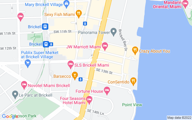 Show map of Miami