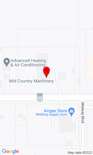 Google Map of Mid Country Machinery 3478 5th Avenue S, Fort Dodge, IA, 50501