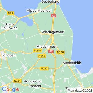 Werkgebied van onze bestrijder in Middenmeer