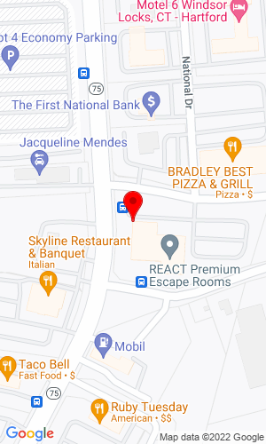 Google Map of Mideast Equipment Supply 1 Corporate Drive, Windsor Locks, CT, 06096