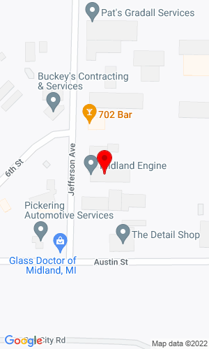 Google Map of Midland Engine 622 S. Jefferson Avenue, Midland, MI, 48640