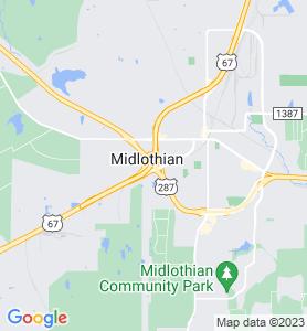 Midlothian TX Map