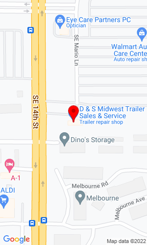 Google Map of Midwest Trailers Plus, Inc. 548 29th Street , West Des Moines, IA, 50265,