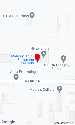 Google Map of Midwest Truck Equipment 200 W. 61st N., Wichita, KS, 67204,