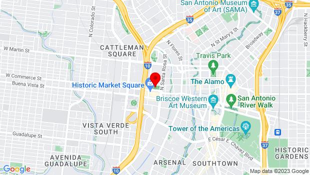 Google Map of Milam Park, San Antonio, TX 78205