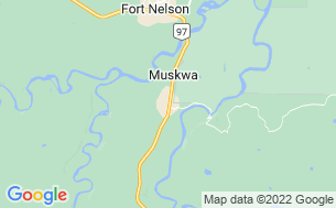 Map of Fort Nelson 5th Wheel RV Park