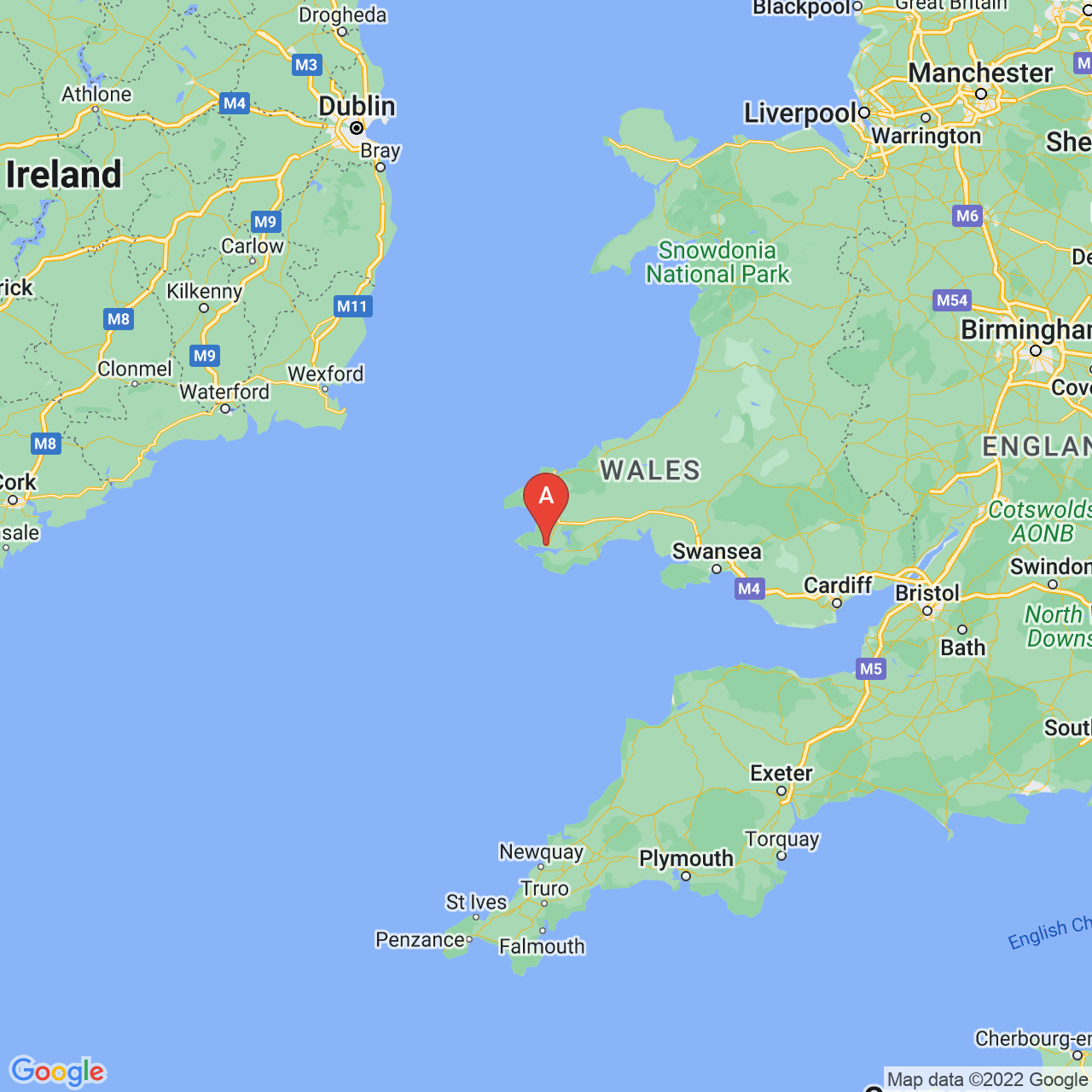 Milford Haven, Wales Map