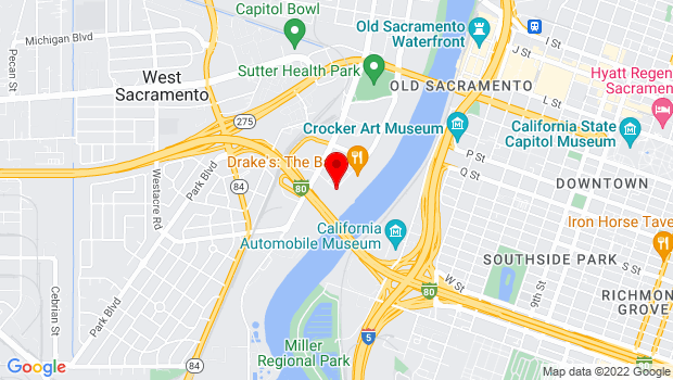 Google Map of Mill St. and Riverfront St., West Sacramento, CA 95691